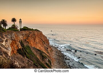Point Vicente Lighthouse at dawn