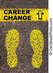 pointage, carrière, image, haut., flèche, conceptuel, changement