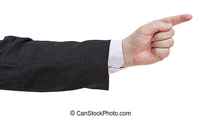 pointage, -, doigt, geste, main
