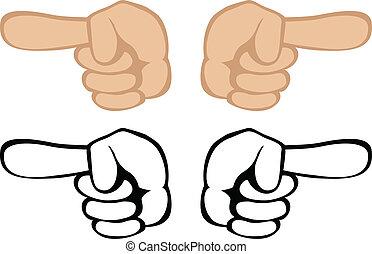 pointage, geste, main