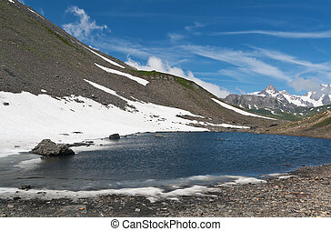Pointe Rousse lake, Italy