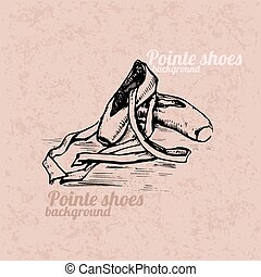 Pointe shoes background