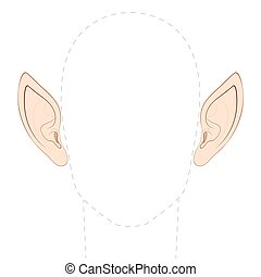 pointed, orelhas
