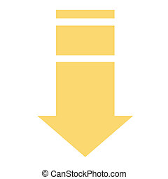 Pointer, arrow in modern flat style. Arrow button isolated on white background. Symbol for web design, site, app, UI.