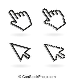 Pointer - Hand mouse icon pointer. Finger click icon