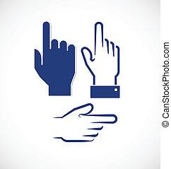 Pointer finger blue hand buttons - Pointer finger blue hand...
