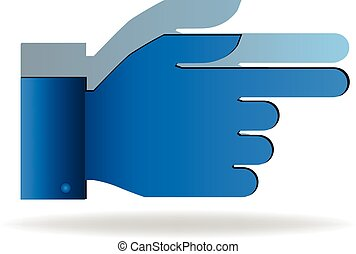 Pointer hand icon vector