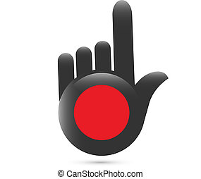 Pointer hands button logo