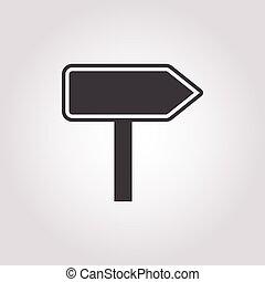 pointer icon on white background