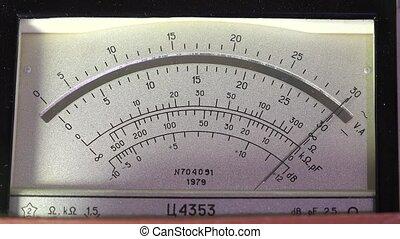 Pointer instrument multi-meter. Tester. 4K. - Pointer...
