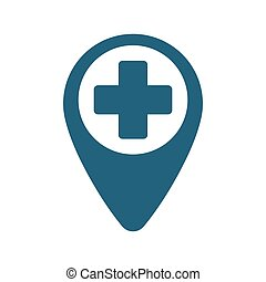 pointer map hospital cross location