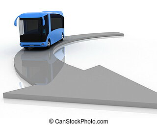 pointer of motion of bus - pointer of direction of motion of...