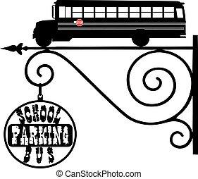 Pointer street parking school buses
