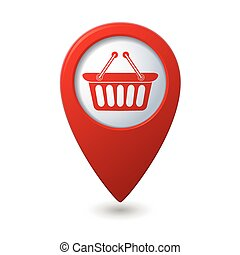 Pointer with shopping basket icon