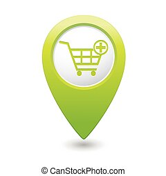 Pointer with shopping cart icon
