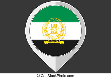 Pointer with the flag of Afghanistan