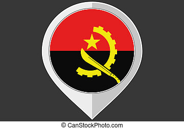 Pointer with the flag of Angola