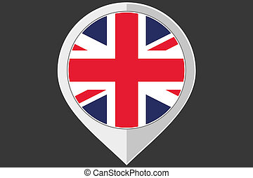 Pointer with the flag of United Kingdom