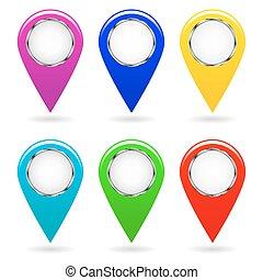 pointers., θέτω , image., γραφικός , χάρτηs , απομονωμένος , μικροβιοφορέας , objects.