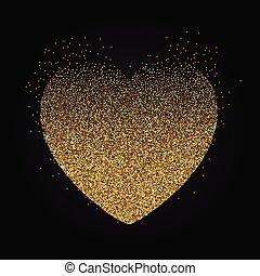 pointillez, coeur, fond, 0401