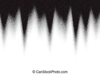 pointillez, dotwork, points, fond, noir, blanc, dispersé, ...
