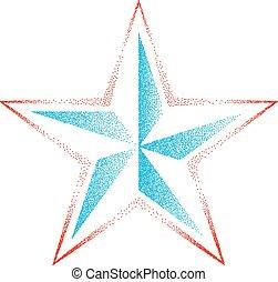 pointillez, effet étoile