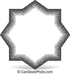 pointillez, forme géométrique, effet