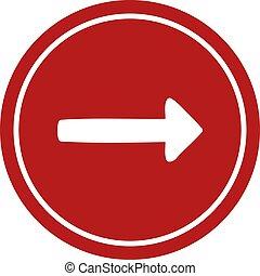 pointing arrow circular icon