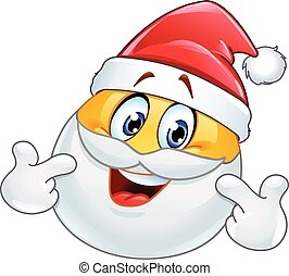 Pointing at himself Santa emoticon