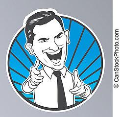 Pointing Businessman
