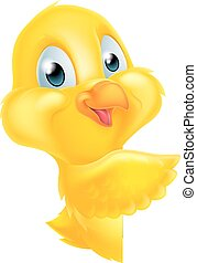 Pointing Easter Chick