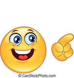 Emoticon pointing