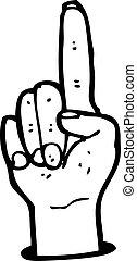 pointing finger cartoon