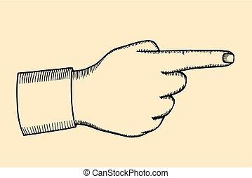 Pointing finger illustration