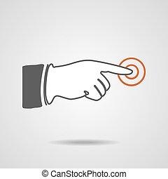 Pointing finger Vector illustration EPS10