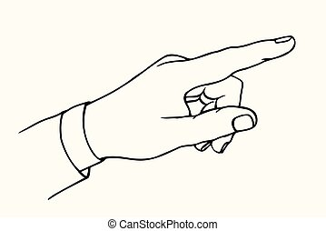 Pointing hand finger.