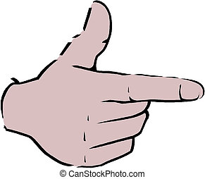 pointing hand (point finger)