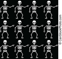 Pointing skeletons pattern