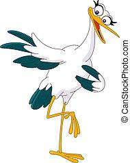 pointing stork - Lovely stork pointing