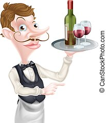 Pointing Wine Waiter