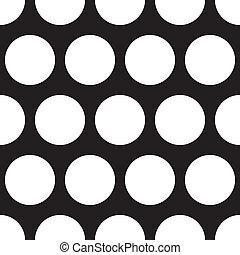 points, arrière-plan noir, vecteur, blanc