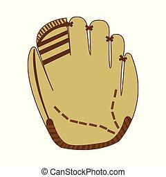 points, blanc, brunâtre, gant base-ball, marques, réaliste