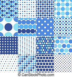 points, cercle, polka, seamless
