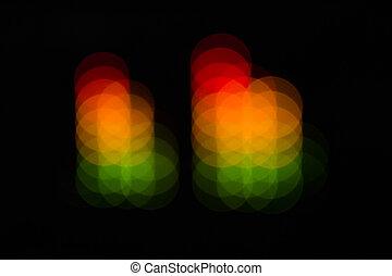 points, compensateur, barres, coloré, résumé, -, brouillé