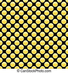 points, doré, or, vendange, résumé, decoration., pattern., seamless, illustration, vecteur, conception, retro, circles., géométrique, texture.