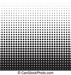 points, dots., illustration, halftone, arrière-plan., vecteur, noir, blanc