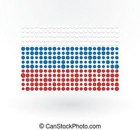 points, drapeau, réconcilié, russie