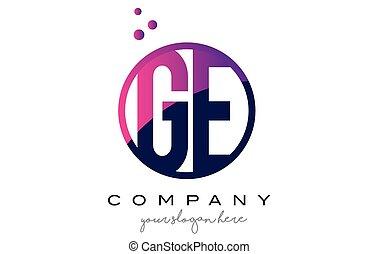 points, e, g, pourpre, ge, conception, lettre, logo, cercle...