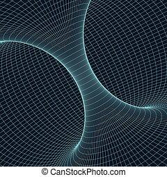 points, eps10., torus, wireframe, lignes, illustration, polygonal, vecteur, connecté, element., maille