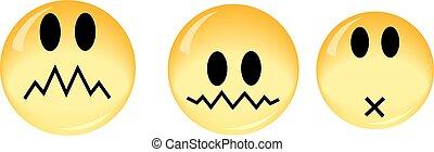 points, fait, smiley, jaune, verre, vecteur, /